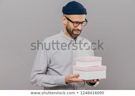 выстрел красивый человека два коробки Сток-фото © vkstudio