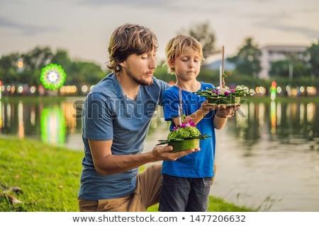 отцом сына рук запуск воды фестиваля Сток-фото © galitskaya
