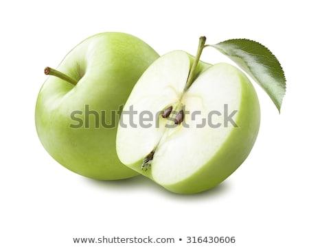 Suculento verde maçãs isolado branco elemento Foto stock © Lady-Luck