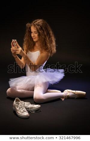 Genç balerin klasik balerin cep telefonu güzel Stok fotoğraf © boggy