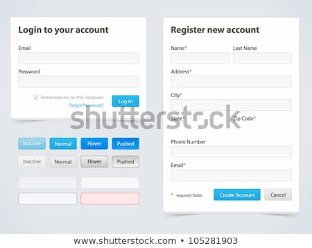 Registration Form On Web Site With Password Stock photo © AndreyPopov