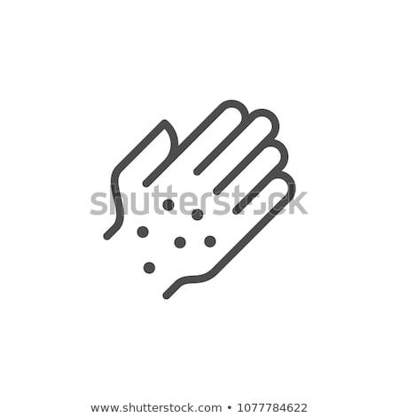 dermatitis rash on hands icon vector outline illustration Stock photo © pikepicture