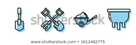 łopata grabie ikona wektora ilustracja Zdjęcia stock © pikepicture