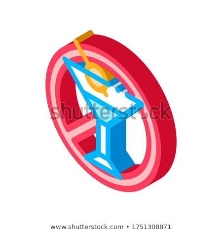 Libero segno alcol isometrica icona vettore Foto d'archivio © pikepicture