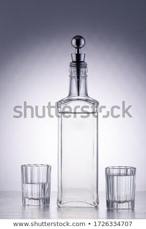 Vodka martini gin koktél eredeti szemüveg olajbogyók Stock fotó © DenisMArt