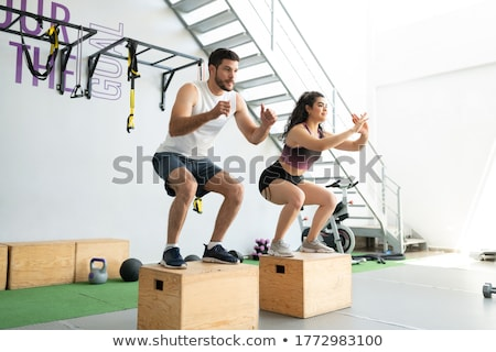 two men training in a box club Stock photo © photography33