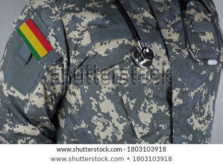 leger · Bolivia · frame · oorlog · dienst · silhouet - stockfoto © perysty