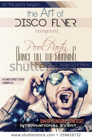 Disco club flyer with Disck Jockey shape Stock photo © DavidArts