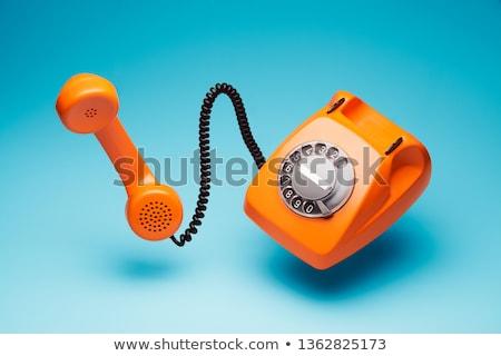 af · haak · retro · zwarte · telefoon · focus - stockfoto © sumners
