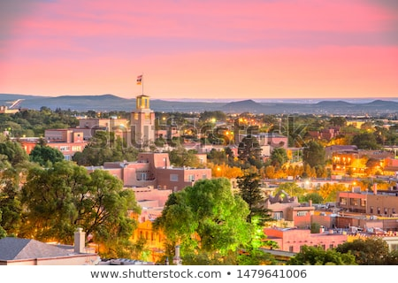 ニューメキシコ州 風光明媚な 雲 青 岩 ストックフォト © LynneAlbright