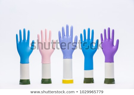 Multi Colored Gloves with Fingers Stock photo © zhekos