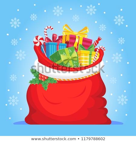 bastante · menina · vermelho · natal · seis · colorido - foto stock © carlodapino