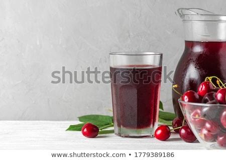 свежие · фрукты · Вишневое · пить · прозрачный · стекла · Кубок - Сток-фото © manaemedia