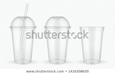 два · пусто · одноразовый · пластиковых · стекла · изолированный - Сток-фото © kitch