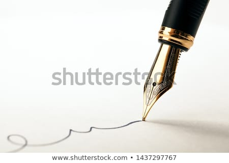 Töltőtoll közelkép lövés levél tinta Stock fotó © devon