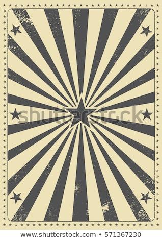 Patriottico vintage poster raggi di sole bandiera americana Foto d'archivio © tintin75