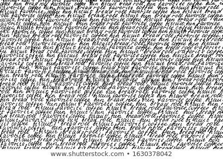 Kávé szavak terv háttér bár minta Stock fotó © oly5
