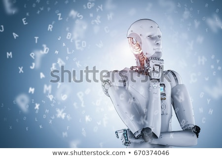andróide · engrenagens · 3d · render · robô · máquina - foto stock © idesign