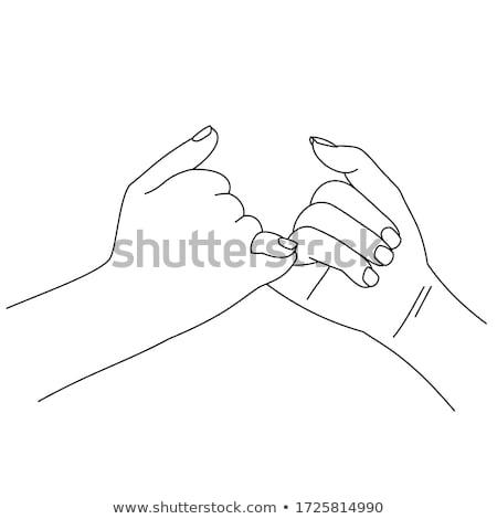mutat · nő · kettő · kezek · üres · termék - stock fotó © oleksandro