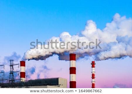 Poluição indústria Canadá pipes urbano torre Foto stock © pictureguy