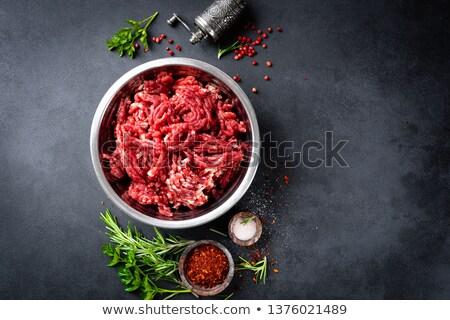 Hambúrguer carne erva tempero preparado Foto stock © Kayco
