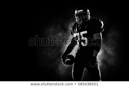 futballista · kék · játszik · fehér · férfi · sport - stock fotó © wavebreak_media