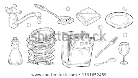 Brush for dishware Stock photo © vtls