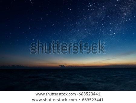 Bulutlar gün batımı okyanus tan ses Kuzey Carolina Stok fotoğraf © wildnerdpix