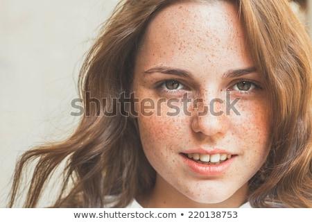 Forestales mujer hermosa retrato caída Foto stock © igabriela