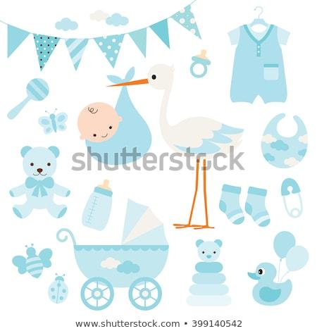 blue bird with bib for baby Stock photo © adrenalina