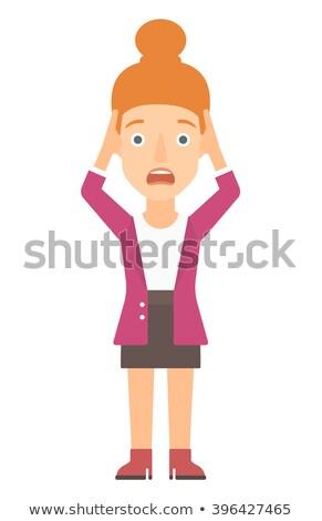 Woman clutching her head in desperate. Stock photo © RAStudio