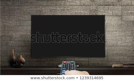 Televisão retro projeto tabela mobiliário papel de parede Foto stock © bluering