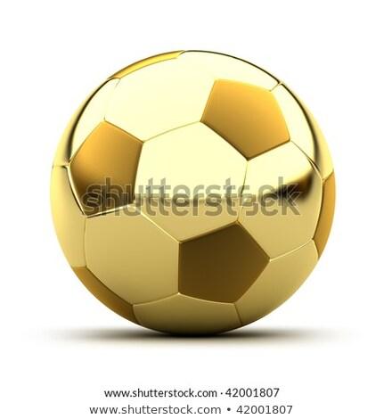Europa fútbol pelota fútbol dorado 3D Foto stock © Wetzkaz