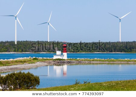 Pubnico Harbour Lighthouse in Nova Scotia Stock photo © benkrut