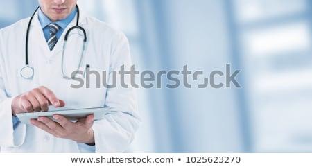 Médico futurista digital tela branco médico Foto stock © wavebreak_media