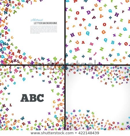Colorful Mixed Alphabet Background Stock photo © Voysla