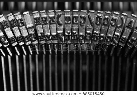 Rusty inky keys of an antique typewriter Stock photo © nuttakit