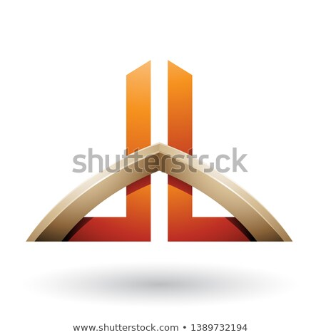 Bege laranja cartas isolado branco abstrato Foto stock © cidepix
