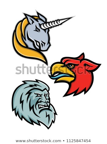 Criaturas deporte mascota colección icono Foto stock © patrimonio