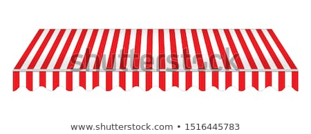 Red and white awning. Realistic canopy for store. stock photo © AisberG