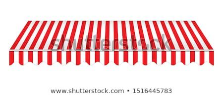 Vermelho branco realista armazenar fundo janela Foto stock © AisberG