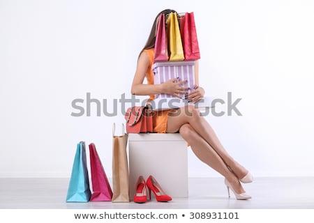 bolt · szatyrok · cipők · pénz · nők · vásárlás - stock fotó © studiolucky