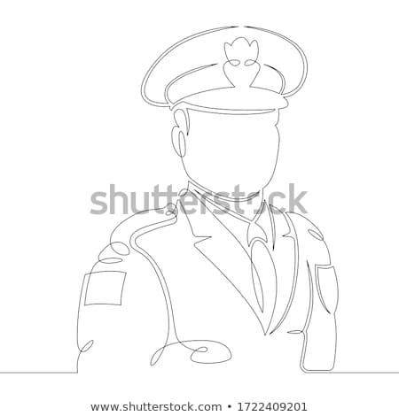 retro · cartoon · policjant · pracy · osoby · mężczyzna - zdjęcia stock © colematt
