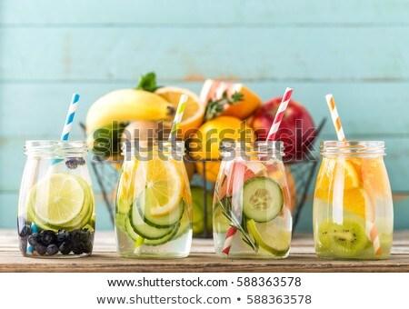 Stock fotó: Választék · detoxikáló · víz · diéta · egészséges · ital