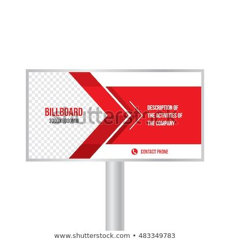 Billboard Design, Standing Advertising Vector Stock photo © robuart