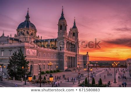 katedry · Madryt · Hiszpania · pałac · zmierzch · wygaśnięcia - zdjęcia stock © borisb17