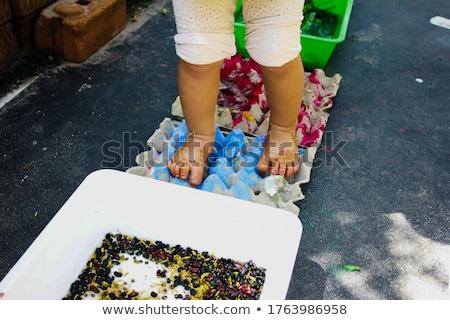 Stockfoto: Moeder · opleiding · baby · zomer · dag · hemel