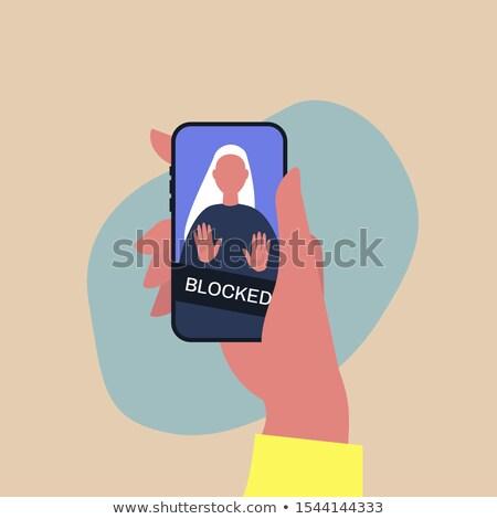 Phone blocked screen interface Stock photo © wavebreak_media