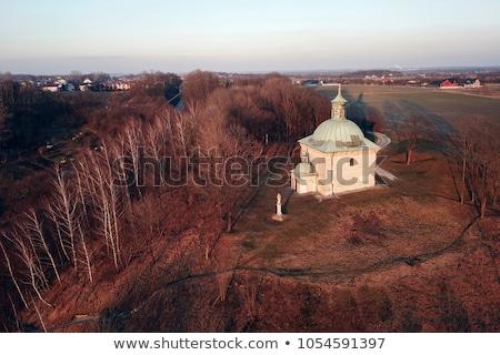 Kapel zonsondergang heilig kruis Polen stad Stockfoto © benkrut