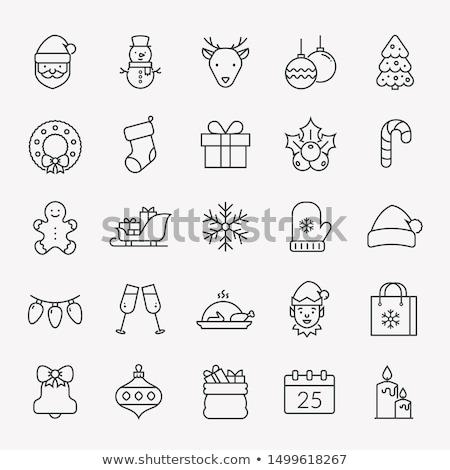 Noël elf illustration neige carte Photo stock © bluering